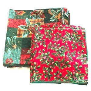 Holiday cloth napkins/2 sets